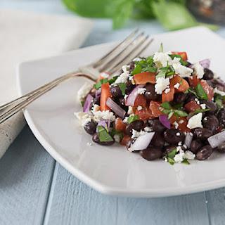 Black Beans, Feta, Basil, Red Onion, and Tomato Salad