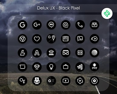 Delux Black Pixel - S9 Icon Pack Screenshot