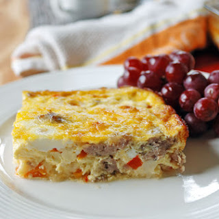 Sausage and Peppers Breakfast Casserole.