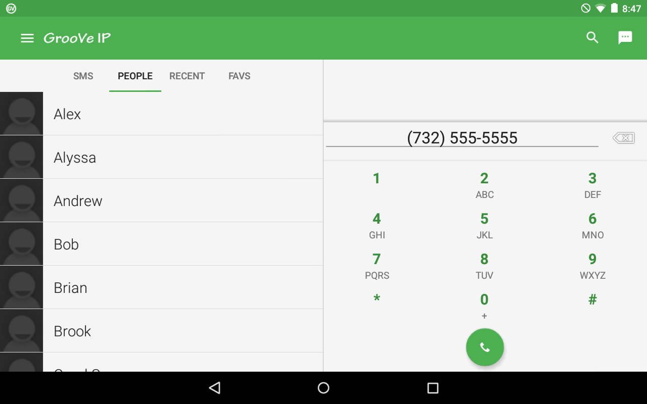 GrooVe IP VoIP Calls & Text- screenshot