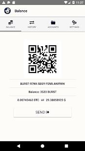 Burstcoin Wallet - náhled