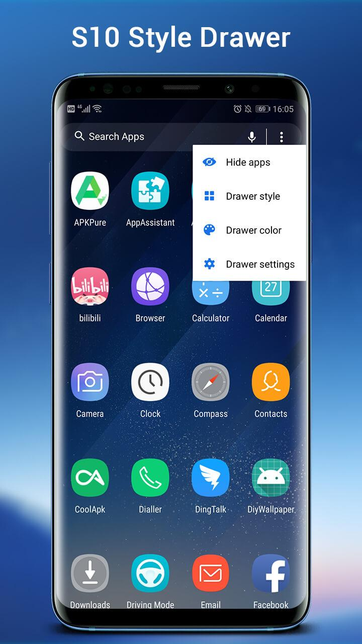 SO S10 Launcher for Galaxy S,  S10/S9/S8 Theme Screenshot 1