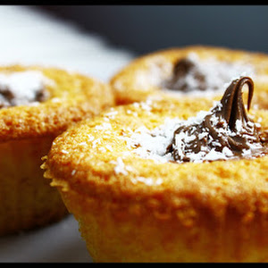 Cupcakes with Coconut and Nutella