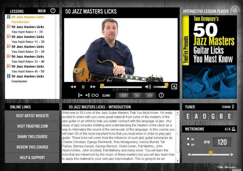 Tom Dempsey - 50 Jazz Master Licks You Must Know
