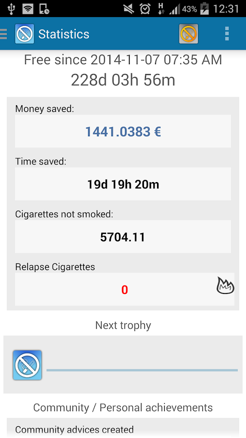 Stop! Quit Smoking - LITE- screenshot