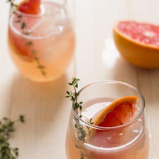 Grapefruit, Thyme & Elderflower Cocktail.