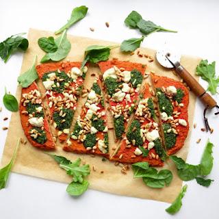 Beet Crust Pizza with Kale Pesto