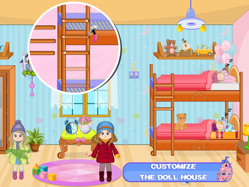 Pretend Play Doll House: Town Family Mansion Fun android2mod screenshots 9
