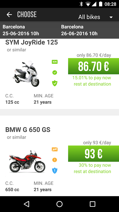 Rental Motor Bike- screenshot