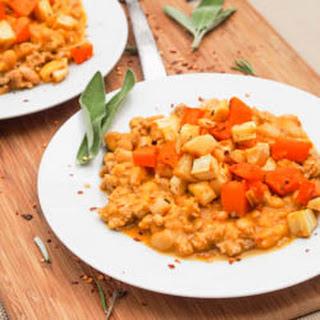 Ground Chicken Pumpkin Chili with Roasted Veggies {Gluten-Free, Dairy-Free}