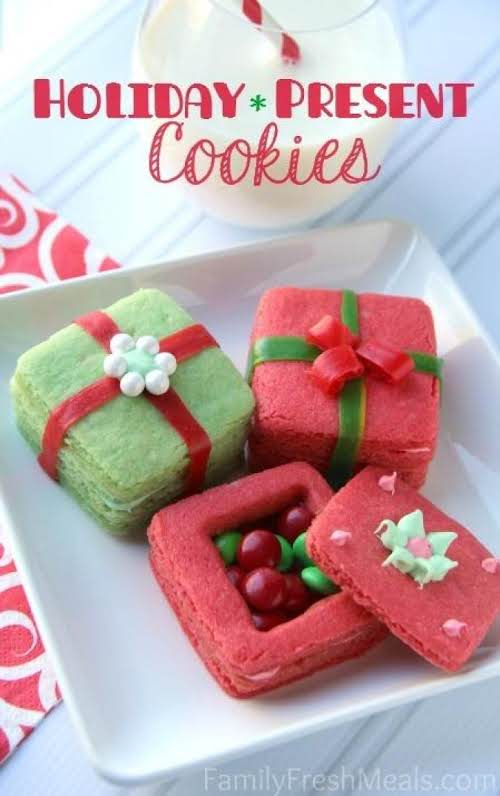 "Crafty Holiday Cookies for Kids 3D Present Cookies""These 3D present cookies ..."