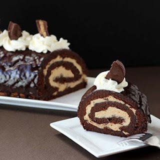 Chocolate Peanut Butter Roulade