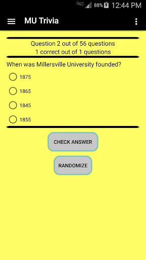 Millersville University Trivia 1.2 screenshots 1