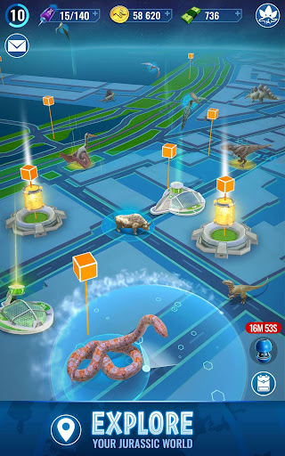 Jurassic World Alive [Mod] Apk - Infinite battery, VIP