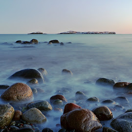 by Rod Fewer - Landscapes Sunsets & Sunrises ( fundy, seascape, rocks, beach, sunset, nature park, long exposure )
