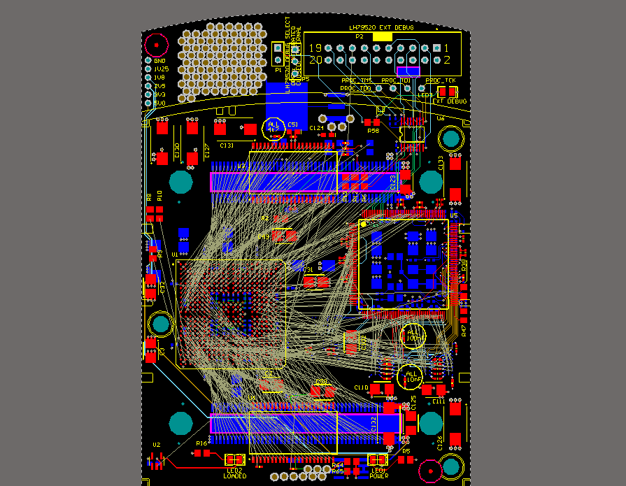 part-differential-pair-pin-swapping-with-crossover-connections PCB-Routing Tipps: Layout mit vielen Überkreuzverbindungen