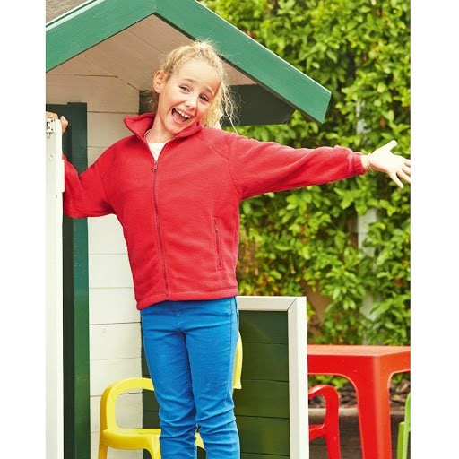 Fruit Of The Loom Kids Zip Fleece