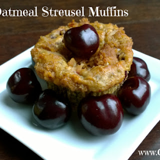 Cherry Oatmeal Streusel Muffins