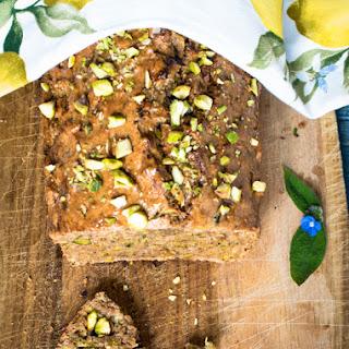 Zucchini & Pistachios Olive Oil Loaf Cake Recipe