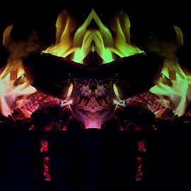 Gremlin by Kenneth Cox - Abstract Fire & Fireworks ( abstract, abstract photography, summertime, campfire, fire )