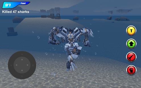 X Robot Car : Shark Water Screenshot