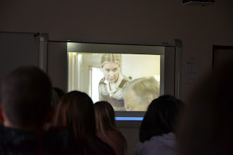 """Photo: Projekt """"Příběhy bezpráví"""" na naší škole. Sledování filmu """"Swingtime"""". Film zhlédla třída 2. A a 3. A."""