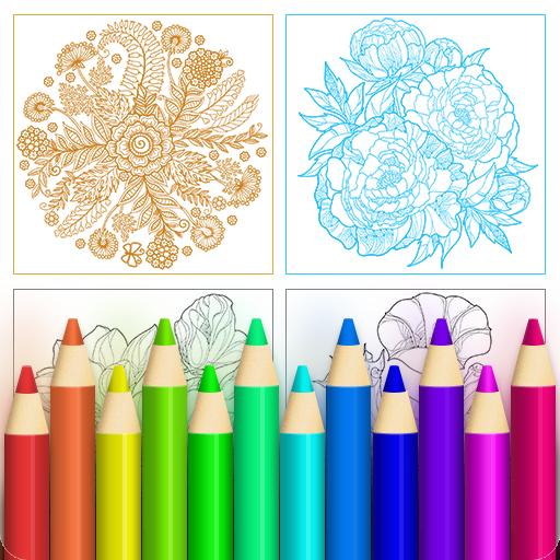 Colorfeel: Flower Coloring Book