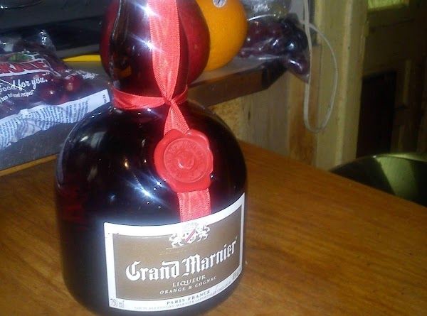Pour 1/2 a cup of Grand Marnier and 1/2 a cup of Southern Comfort...