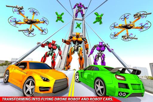 Drone Robot Car Transforming Gameu2013 Car Robot Games screenshots 23