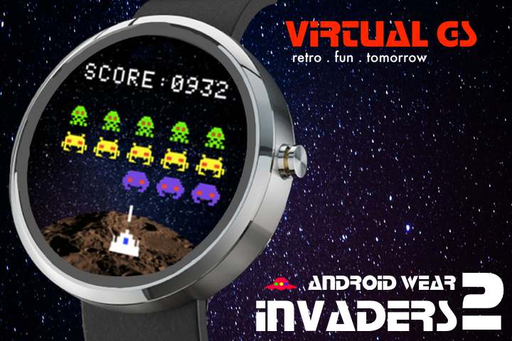 Invaders 2 (Android Wear)- screenshot