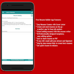 resume cv creator android apps on google play