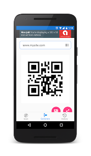 QR and barcode scanner and generator for Android 5