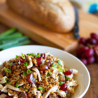 Honey Chicken Salad with Grapes and Feta.