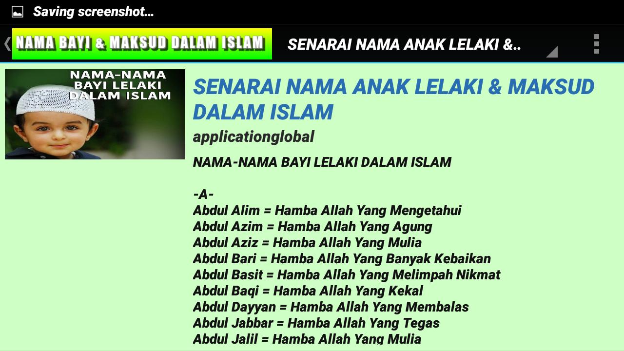 MAKSUD NAMA BAYI DALAM ISLAM   Android Apps on Google Play