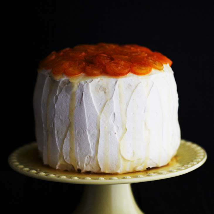 Parsnip Cake with Candied Kumquats Recipe
