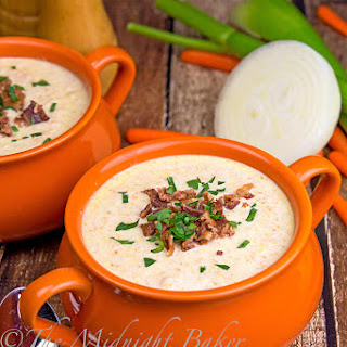 Cream of Celery Soup with Bacon.