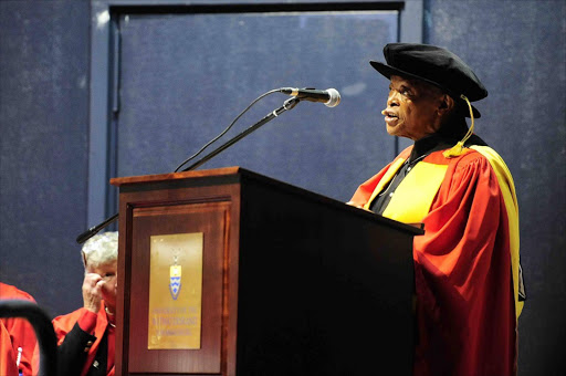 Musician and cultural activist Hugh Masekela was honored with an Honarary Doctorate at the University of Witwatersraand in Johannesburg for his contribution in music and his activitism during apartheid. Photo Thulani Mbele