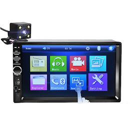 Mp5 Player 7018B + Camera marsarier, Ecran tactil 7 inch Bluetooth, USB, Slot card SD