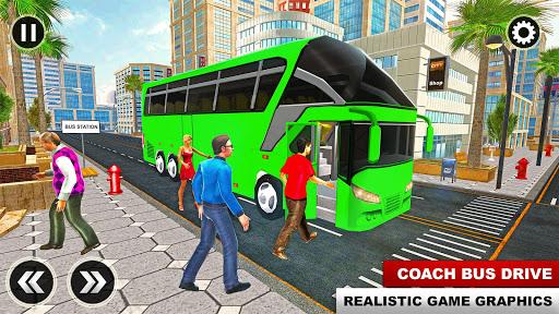City Passenger Coach Bus Simulator: Bus Driving 3D apkpoly screenshots 1