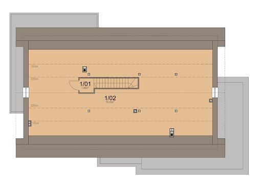 Bianco 2 modern - Rzut poddasza do adaptacji