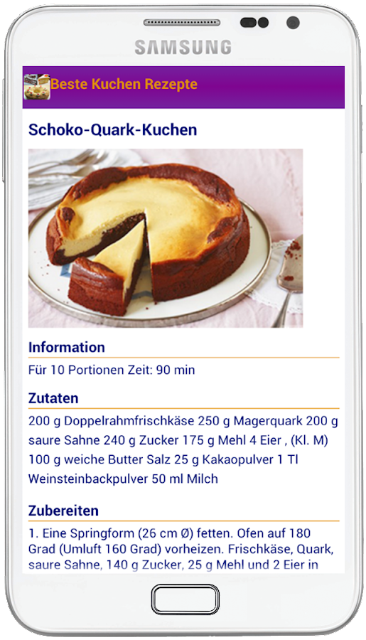 beste kuchen rezepte android apps on google play. Black Bedroom Furniture Sets. Home Design Ideas