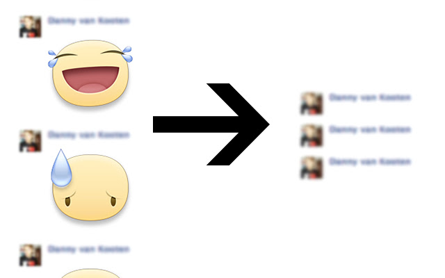 Hide Stickers in Facebook