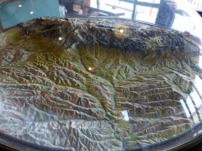 Photo: Sheridan and the Big Horn Mountains diorama in the Welcome Center