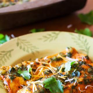 Spinach & Cheese Enchiladas.