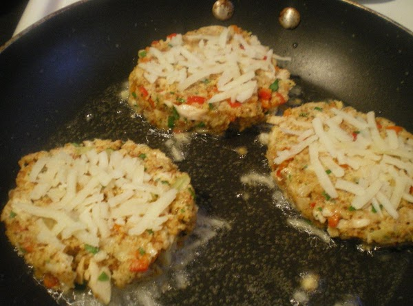 Gently place potato side down in heated skillet.  Place more hash brown potatoes...