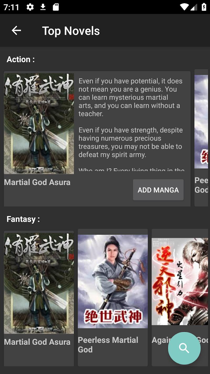 Mandrasoft Manga//Light-novel Reader Screenshot 4