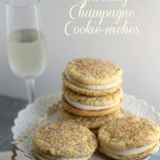 Sparkling Champagne Cookie-wiches.