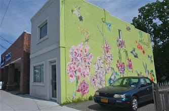 Photo: hummingbird mural in downtown Riverhead,