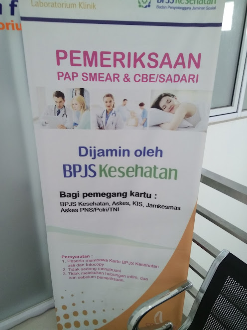 Banner Pemeriksaan Pap Smear Gratis di Kimia Farma Depok 2