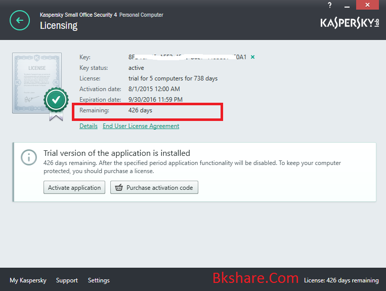 Download Kaspersky Small Office Security 4 bản quyền đến 30/9/2016